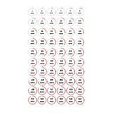 Vector illustration, increments from 1 to 60 seconds, Stopwatches set 3. Vector illustration, increments from 1 to 60 seconds, one second interval, 10 rows and vector illustration