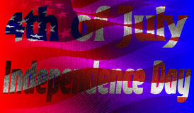 Independence Day of America Day on 4th July against the background of the American flag. EPS10. Vector illustration. Independence Day of America Day on 4th July Stock Image