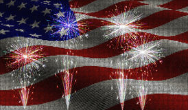 Vector illustration. Independence Day of America Day on 4th July against the background of the American flag in a mosaic style. EPS10. Vector illustration Royalty Free Stock Photos