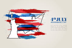 Vector Illustration, Independence Day of america Design. Royalty Free Stock Photo