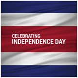 Vector Illustration independence day of Costa Rica. For web design and application interface, also useful for infographics. Vector illustration Royalty Free Stock Image