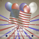 Vector illustration of Independence day Stock Image