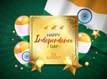 Vector illustration of Independence Day of India banner with Indian flag tricolor.  vector illustration