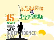 15 august independence day. Vector illustration on Independence Day of India. 15th of August. design elements of the national day.Graphic icons stock illustration