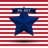 Vector illustration independence day usa Stock Photos