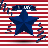 Vector illustration independence day usa Stock Images