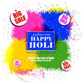 India Festival of Color Happy Holi Advertisement Sale background Royalty Free Stock Images
