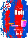 India Festival of Color Happy Holi Advertisement Sale background. Vector illustration of India Festival of Color Happy Holi Advertisement Sale background Royalty Free Stock Photography