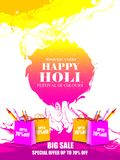 India Festival of Color Happy Holi Advertisement Sale background. Vector illustration of India Festival of Color Happy Holi Advertisement Sale background Stock Image