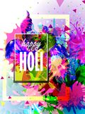 India Festival of Color Happy Holi background Royalty Free Stock Photo