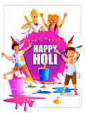 India Festival of Color Happy Holi background Royalty Free Stock Images