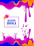 India Festival of Color Happy Holi background Stock Images