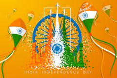 Vector Illustration for `India Independence Day` royalty free illustration