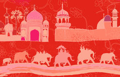 Indian decor with elephants Stock Images