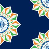 Indian Independence Day concept background with Ashoka wheel. Vector Illustration of Indian Independence Day concept background with Ashoka wheel stock illustration