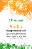 Vector illustration Indian Independence Day, India flag in trendy style. 14 August. Watercolor design template for poster, banner, flayer, greeting,invitation Vector Illustration