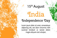 Vector illustration Indian Independence Day, India flag in trendy style. 14 August. Watercolor design template for poster, banner, flayer, greeting,invitation Royalty Free Stock Photo