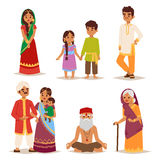 Vector illustration indian people. Vector illustration of Indian couple of different culture standing together. Indian people female happy person. Ethnicity Stock Photos