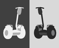 Vector illustration of an individual electric scooter Stock Photos