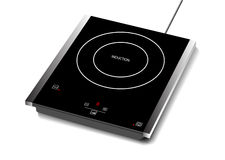 Vector illustration of induction hob with touchpad., Single burner Royalty Free Stock Images