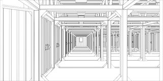 Vector illustration of industrial interior Royalty Free Stock Photography