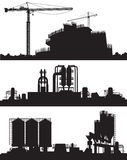 Vector illustration of industry area Stock Photo