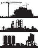 Vector illustration of industry area royalty free illustration