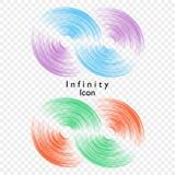Vector illustration of infinity on transparent background. Template for logo, symbol, emblem. Design element for poster. royalty free illustration