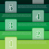 Vector Illustration, Infographic Banner for Creative Work Royalty Free Stock Photo