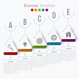 Vector illustration infographic. Vector illustration circles timeline infographic design. Business concept with five options Royalty Free Stock Image