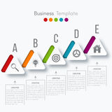 Vector illustration infographic. Vector illustration circles timeline infographic design. Business concept with five options Royalty Free Stock Images