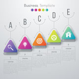 Vector illustration infographic. Vector illustration circles timeline infographic design. Business concept with five options Royalty Free Stock Photo