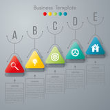 Vector illustration infographic. Vector illustration circles timeline infographic design. Business concept with five options royalty free illustration