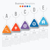 Vector illustration infographic. Vector illustration circles timeline infographic design. Business concept with five options Royalty Free Stock Photography