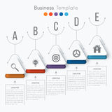 Vector illustration infographic. Vector illustration circles timeline infographic design. Business concept with five options Stock Photo
