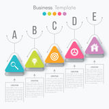 Vector illustration infographic. Vector illustration circles timeline infographic design. Business concept with five options Stock Photography