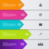 Vector illustration infographic five options.  stock illustration