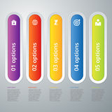 Vector illustration infographic five options Stock Photo
