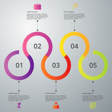 Vector illustration infographic five options Royalty Free Stock Images