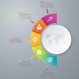 Vector illustration infographic five options Stock Image