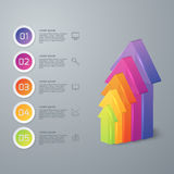 Vector illustration infographic five options 3d arrows Royalty Free Stock Photography