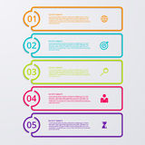 Vector illustration infographic five options with world map Royalty Free Stock Images