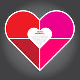 Vector Illustration, Infographic Heart for Design and Creative W Stock Images