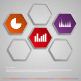 Vector illustration infographic hexagons Royalty Free Stock Photo