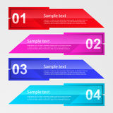 Vector illustration infographic rectangular shapes Stock Images