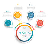 Vector illustration infographic template with 3D circles color paper label. Vector illustration infographic template with 3D circles color paper label, business Stock Photo