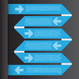 Vector Illustration, Infographic Template for Design Work Royalty Free Stock Image