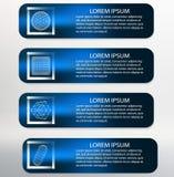 Vector Illustration. Infographic template list stock illustration