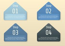 Vector illustration Infographic workflow layout diagram number o Stock Photos