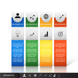 Vector illustration Infographic workflow layout diagram number options web design Royalty Free Stock Photography